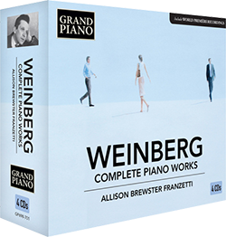 WEINBERG, M.: Piano Works (Complete) (4-CD Box Set)