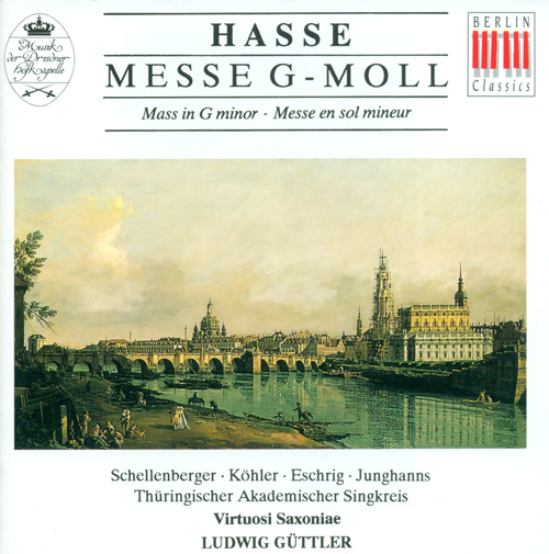 "HASSE, J.A: Mass in G minor, ""Terza messa"" (Thuringian Academic Singkreis, Virtuosi Saxoniae, Guttler)"