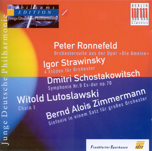 Orchestral Music - RONNEFELD, P. / SHOSTAKOVICH, D. / LUTOSLAWSKI, W. / ZIMMERMANN, B.A. (German Youth Philharmonic Jubilee Edition, Vol. 1)