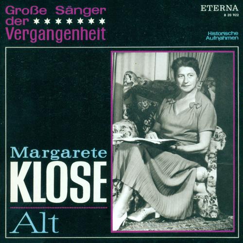 Opera Arias (Mezzo-soprano): Klose, Margarete - MONTEVERDI, C. / HANDEL, G.F. / GLUCK, C.W. / GLINKA, M.I. / WAGNER, R. / VERDI, G. (1943-1944)