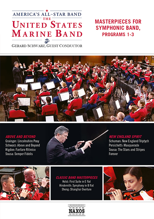 PRESIDENT'S OWN UNITED STATES MARINE BAND (THE): Masterpieces for Symphonic Band, Programs 1-3 (G. Schwarz) (NTSC)