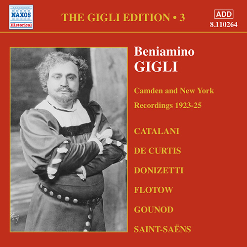GIGLI, Beniamino: Gigli Edition, Vol.  3: Camden and New York Recordings (1923-1925)