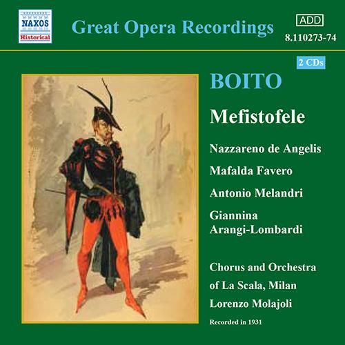 BOITO: Mefistofele (de Angelis, Favero, Melandri) (1931)