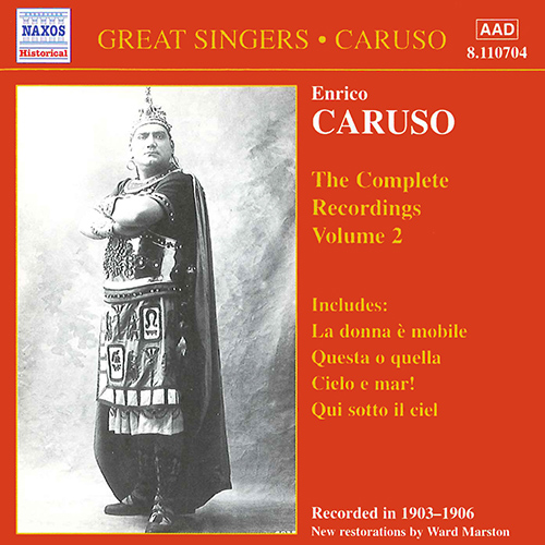 CARUSO, Enrico: Complete Recordings, Vol.  2 (1903-1906)