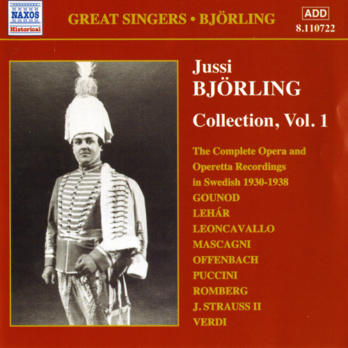 BJORLING, Jussi: Bjorling Collection, Vol. 1: Opera and Operetta Recordings (1930-1938)