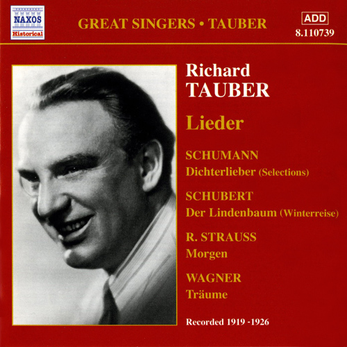 TAUBER, Richard: Lieder (1919-1926)