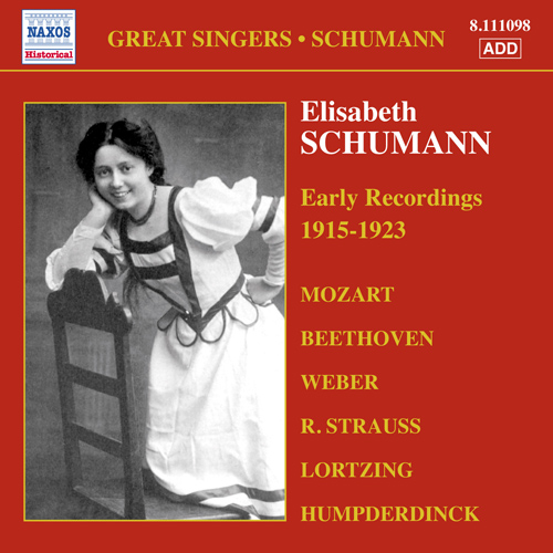 SCHUMANN, Elisabeth: Early Recordings (1915-1923)