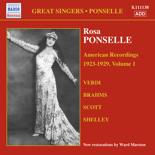 PONSELLE, Rosa: American Recordings, Vol. 1 (1923-1929)