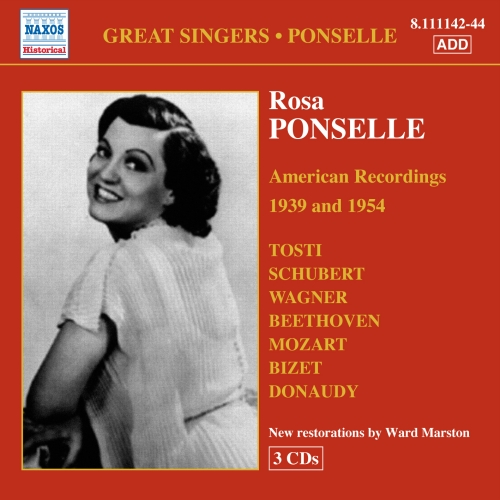PONSELLE, Rosa: American Recordings (1939, 1954)