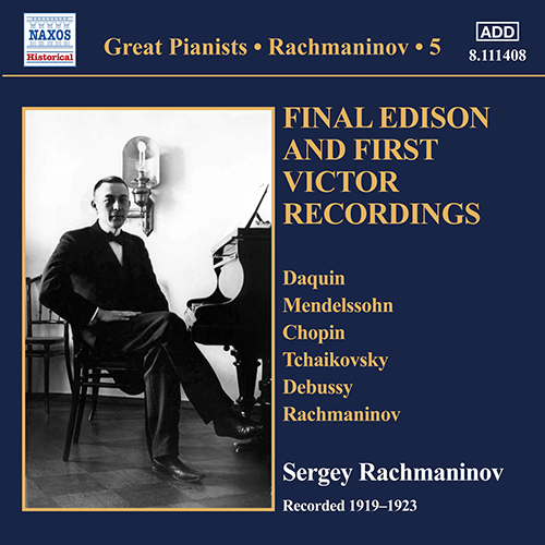 RACHMANINOV, S.: Piano Solo Recordings, Vol. 5 - Final Edison and First Victor Recordings (1919-1923)