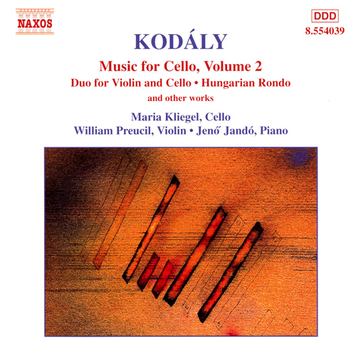 KODALY: Duo for Violin and Cello / Hungarian Rondo / Adagio for Cello / Sonatina