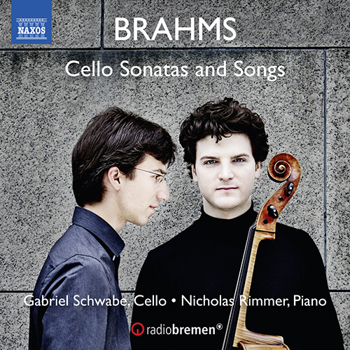 BRAHMS, J.: Cello Sonatas Nos. 1 and 2 / 6 Lieder (arr. G. Schwabe and N. Rimmer for cello and piano)