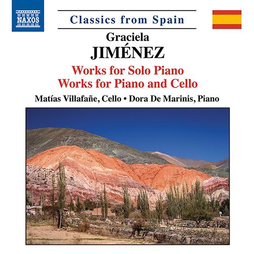 JIMÉNEZ, G.: Piano Solo Works / Cello and Piano Works - En los ojos de las llamas / 3 Pieces / La luz de enero / Mediterráneo