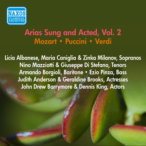 Operatic Arias - VERDI, G. / PUCCINI, G. / MOZART, W.A. (Albanese, Milanov, Pinza) (Arias Sung and Acted, Vol. 2) (1954)