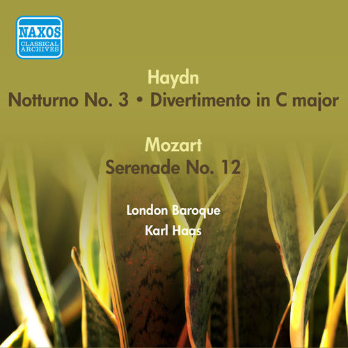 HAYDN, J.: Notturno No. 3 in C major / Divertimento in C major / MOZART, W.A.: Serenade, K. 388 (London Baroque, K. Haas) (1954)