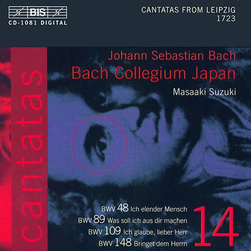 BACH, J.S.: Cantatas, Vol. 14 (Suzuki) - BWV 48, 89, 109, 148