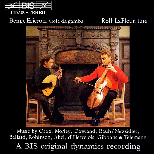 MUSIC FOR VIOLA DA GAMBA AND LUTE