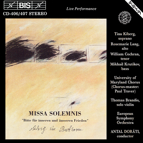 BEETHOVEN, L. van: Missa Solemnis (Dorati)