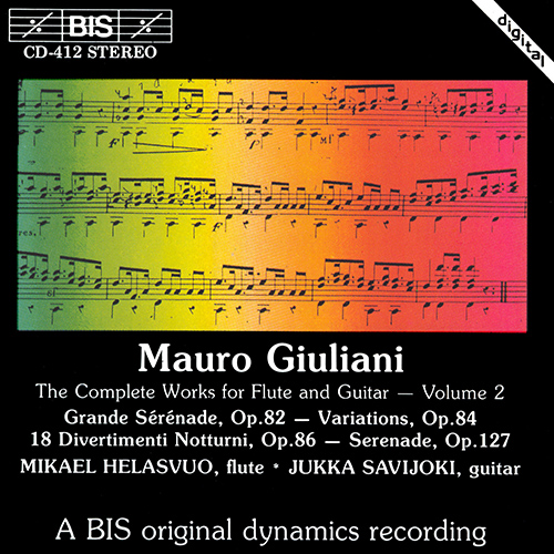 GIULIANI: Complete Works for Flute and Guitar, Vol. 2