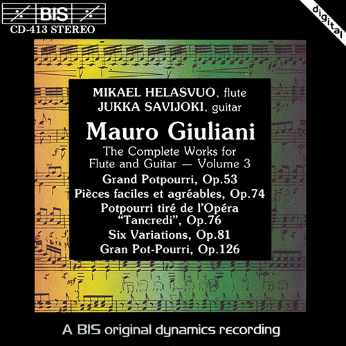 GIULIANI: Complete Works for Flute and Guitar, Vol. 3