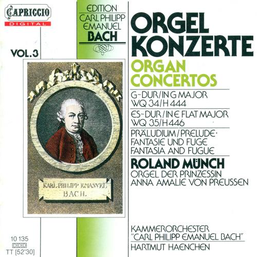 BACH, C.P.E.: Organ Concertos, Vol. 3 - Wq, 34, 35 (Munch)