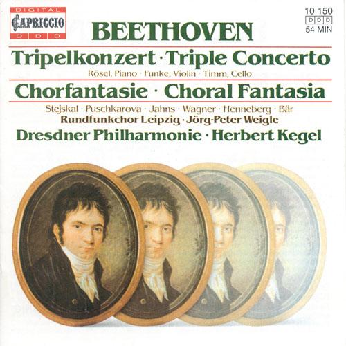BEETHOVEN, L. van: Triple Concerto / Choral Fantasy (Rosel, Funke, Timm, Leipzig Radio Chorus, Dresden Philharmonic, Kegel)