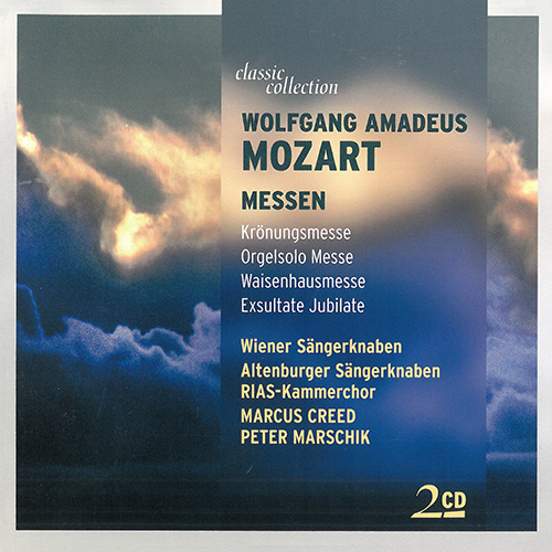 "MOZART, W.A.: Mass No. 16, ""Coronation Mass"" / Missa brevis, ""Organ solo"" / Missa solemnis, ""Waisenhausmesse"" (Classic Collection)"