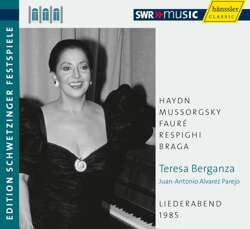 Vocal Recital: Berganza, Teresa - HAYDN, J. / MUSSORGSKY, M.P. / FAURÉ, G. / RESPIGHI, O. (An Evening of Song) (Schwetzinger Festspiele Edition, 1985)