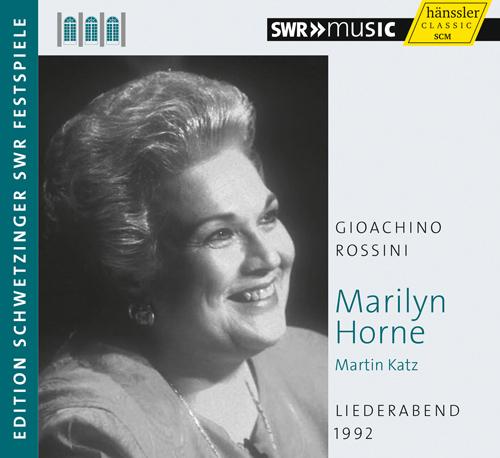 Vocal Recital: Horne, Marilyn - ROSSINI, G. (Schwetzinger Festspiele Edition, 1992)