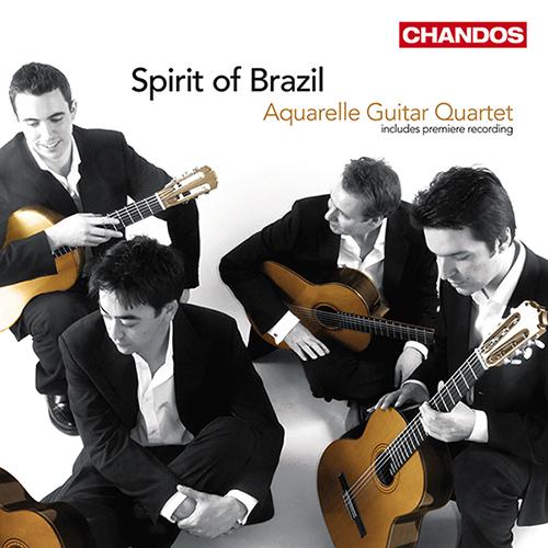 Guitar Quartets - ASSAD, C. / DYENS, R. / BELLINATI, P. / GISMONTI, E. / VILLA-LOBOS, H. (Spirit of Brazil) (Aquarelle Guitar Quartet)