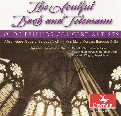 TELEMANN, G.P.: Oboe Sonata, TWV 42:g5 / Fantasies Nos. 4 and 6 / BACH, J.S.: Der Friede sei mit dir (Edberg, Morgan)