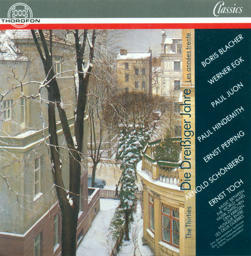 HINDEMITH, P.: Neues vom Tage Overture / Langsames Stuck und Rondo / BLACHER, B.: Concertante Musik / TOCH, E.: Fuge aus der Geographie