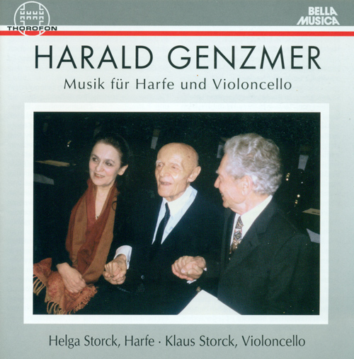 GENZMER, H.: Sonata for Cello and Harp / Harp Concerto / Sonata for Solo Cello / Klagelied for Cello and 6 Harps (Storck)