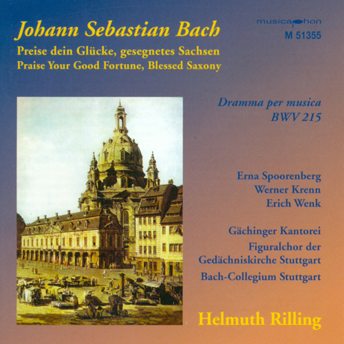 BACH, J.S.: Preise dein Glucke, gesegnetes Sachsen / Sinfonias from Cantatas - BWV 21, 75, 182, 1040 (Rilling)