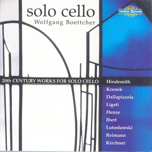 Cello Recital: Boettcher, Wolfgang - HINDEMITH, P. / KRENEK, E. / DALLAPICCOLA, L. / LIGETI, G. / HENZE, H.W. / IBERT, J. / LUTOSLAWSKI, W.