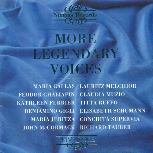 Opera Arias - LEONCAVALLO, R. / BIZET, G. / LEHAR, F. / MOZART, W.A. / WAGNER, R. / BELLINI, G. / MASSENET, J. (More Legendary Voices) (1911-1949)