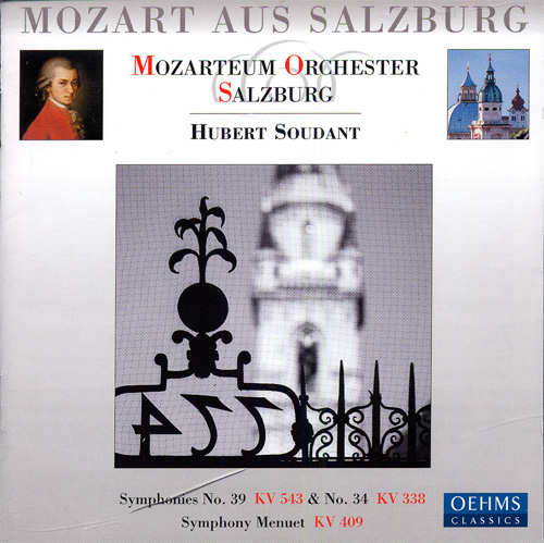MOZART: Symphonies Nos. 34 and 39 / Menuet in C major