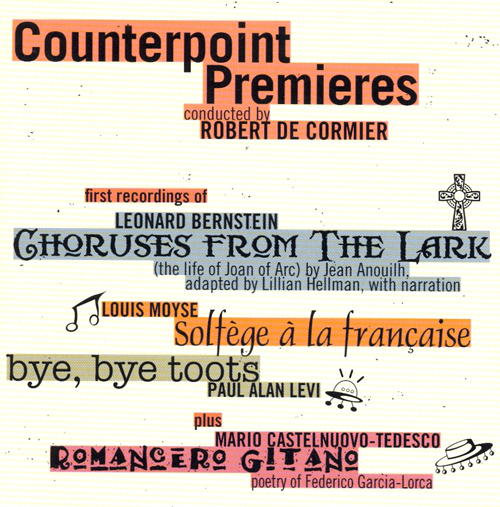 BERNSTEIN, L.: Lark (The) / MOYSE, L.: Solfege a la francaise / LEVI, P.A.: Bye, Bye Toots / CASTELNUOVO-TEDESCO, M.: Romancero Gitano (Counterpoint)