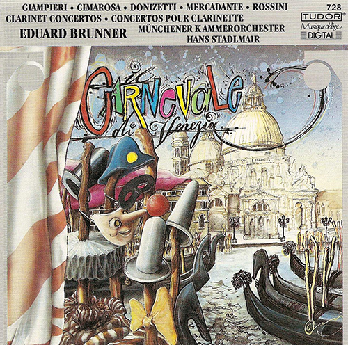 Clarinet Recital: Brunner, Eduard - BENJAMIN, A. / DONIZETTI, G. / ROSSINI, G. / MERCADANTE, S.